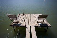 палуба деревянная Стоковое Фото