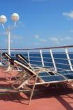 палуба lounging Стоковое Изображение