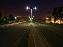 пальма ночи хайвея Стоковое фото RF