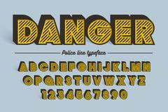 Пальмира декоративного вектора винтажная ретро, шрифт, пальмира Стоковые Изображения RF