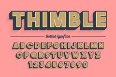 Пальмира декоративного вектора винтажная ретро, шрифт, пальмира Стоковое Изображение RF