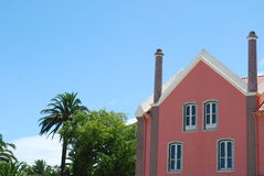 пальмы здания Стоковое Фото