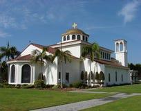 пальмы церков стоковое фото rf