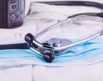 Пальто доктора с стетоскопом Стоковое Фото