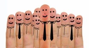 Пальцы команды дела Стоковые Изображения