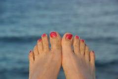 пальцы ноги лета стоковые изображения rf