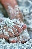 пальцы ноги пляжа стоковое изображение rf