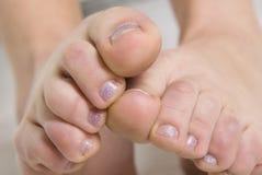 пальцы ноги Стоковые Изображения
