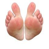 пальцы ноги tattoo бабочки стоковое фото