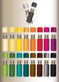 Памяти плоти в 16 других цветах бесплатная иллюстрация