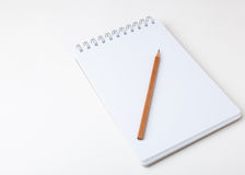 Памятка и карандаш Стоковая Фотография