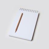 Памятка и карандаш Стоковые Изображения RF