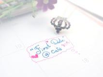 Памятка на календаре Стоковая Фотография
