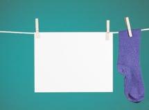 памятка clothesline Стоковое фото RF