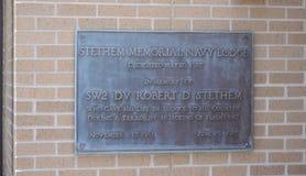 Памятная доска Stethem, Gulfport, Миссиссипи стоковое изображение