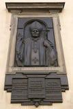 Памятная доска в памяти о посещении ` s Ioan Пола II к собору предположения благословленной девой марии римского Cath стоковые фото