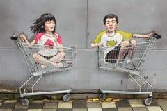 Памятники в улицах Сингапура Стоковое фото RF
