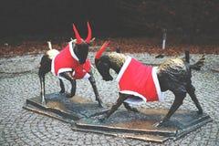 Памятники коз Стоковая Фотография