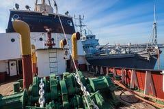 Памятники минного тральщика военного корабля гужа пара Стоковые Фотографии RF