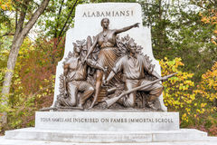 Памятник Алабамы мемориальный, Gettysburg, PA Стоковое фото RF