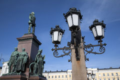 Памятник Александра II (1894), квадрат сената, Хельсинки Стоковые Фото