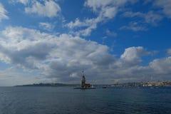 Памятник башни девушки в Стамбуле Стоковая Фотография