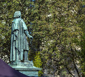Памятник Бетховен на Munsterplatz в Бонн Стоковые Фотографии RF