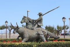 Памятник бой Bull, Saintes-Maries-de-Ла-Mer Les, Франция Стоковое Фото