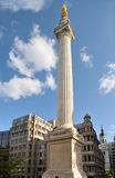 памятник большого london пожара Англии к Великобритании Стоковые Фотографии RF