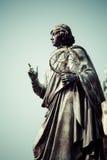 Памятник большого астронома Николая Коперника, Торуна, Польши Стоковое Изображение RF