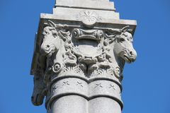Памятник бригады Голгофы Gettysburg - Мичигана - американская гражданская война стоковое изображение rf