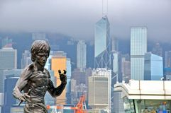 Памятник Брюс Ли в бульваре звезд в Гонконге Стоковое Изображение RF