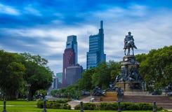 Памятник Вашингтона, овал Eakins, Филадельфия, США стоковые фото