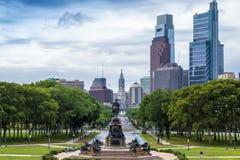 Памятник Вашингтона, овал Eakins, Филадельфия, США стоковые изображения