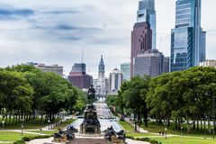 Памятник Вашингтона, овал Eakins, Филадельфия, США стоковая фотография rf