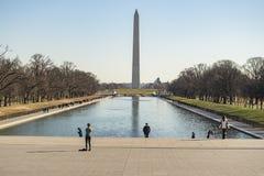 Памятник Вашингтона с обелиском Стоковое Фото
