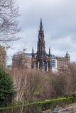 Памятник Вальтера Скотта Стоковое Фото