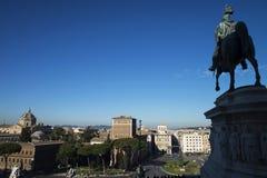 Памятник Виктора Emmanuel II на аркаде Venezia в Риме Стоковая Фотография RF