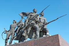 Памятник войны Стоковая Фотография