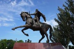 Памятник всаднику верхом стоковые изображения rf