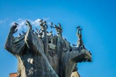 "Памятник вызвал stwa Ziemi Bydgoskiej ""Pomnik Walki i MÄ™czeÅ Стоковая Фотография RF"