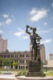 Памятник в городе Монтеррея стоковая фотография rf