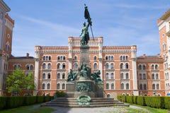Памятник в честь победы австрийской армии в бое на Zenta в 1697, вене Стоковая Фотография RF