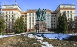 Памятник в честь пятидесятой годовщины бригад конструкции студента Стоковая Фотография RF