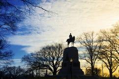 Памятник генерала Шермана стоковые фото