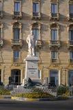 Памятник Джузеппе Гарибальди 4-ое июля 1807-2-ого июня 1882 стоковые изображения