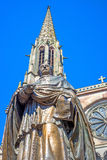 Памятник епископа Freppel в Obernai, Эльзасе, Франции Стоковые Фотографии RF