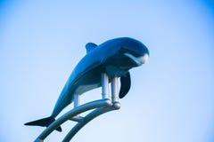 Памятник дельфина в аквариуме Окинавы Стоковые Фотографии RF