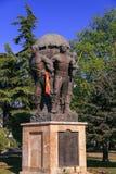 Памятник защитников македонии на парке Zena, скопье, стоковое изображение rf