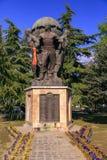 Памятник защитников македонии на парке Zena, скопье, стоковые изображения